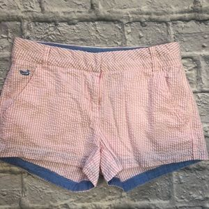 "Southern Marsh 3"" inseam seersucker shorts"
